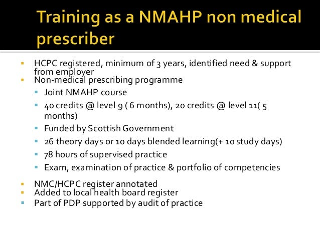 non medical prescribing essay I will detail my role as an independent prescriber, whilst discussing and demonstrating a prescribing episode in assessing and managing a patient in line.