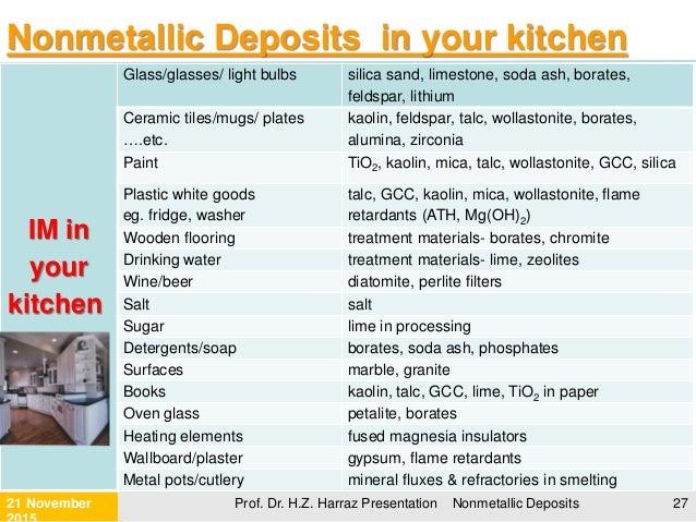 Non Metallic Mineral Deposits
