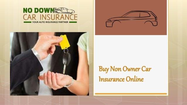 Buy Non Owner Car Insurance Online