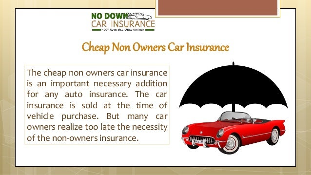 How To Get Non Owners Car Insurance Quote