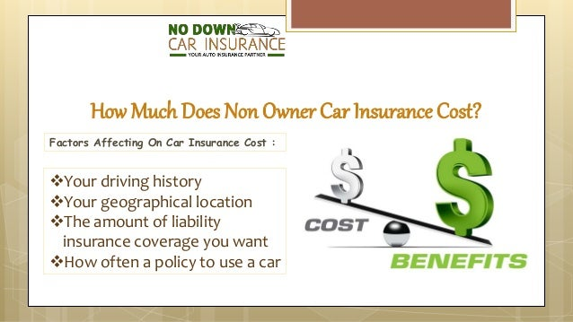 Cost Of Non Owner Car Insurance Policy