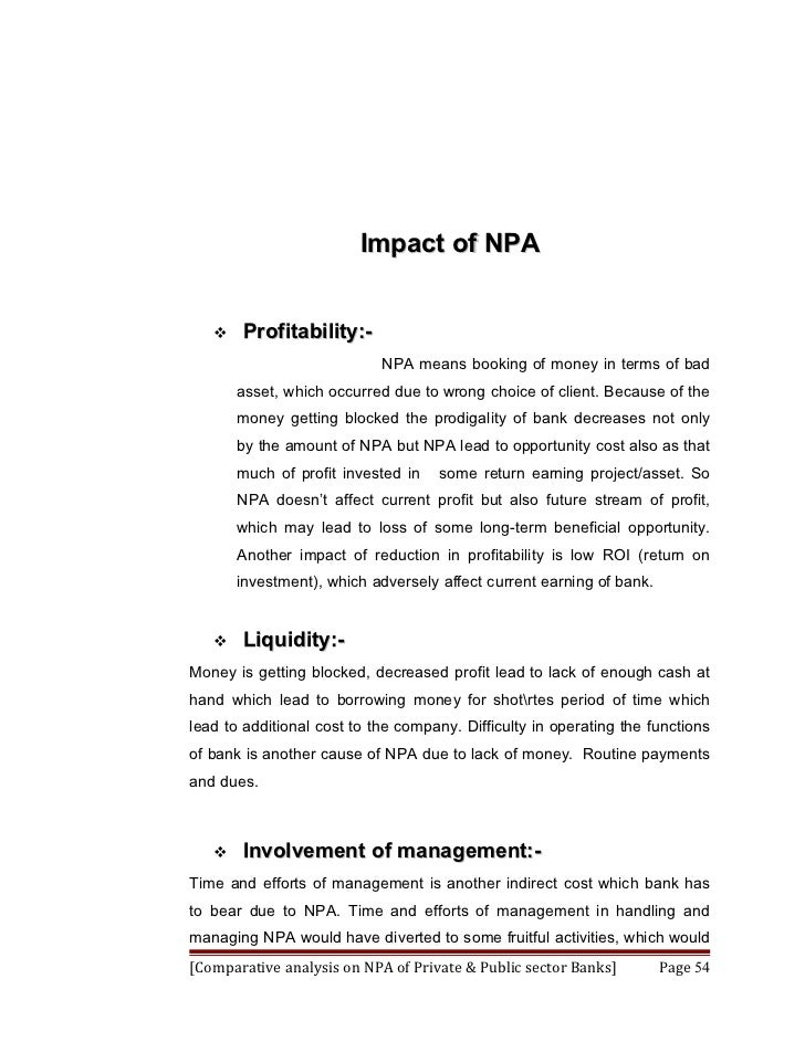 thesis on non performing assets Impact of privatization on non-performing loans of banks in (country name)  relationship between assets and liabilities in balance sheet  list of thesis topics.