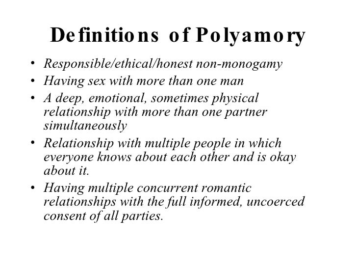 define: polyamorous