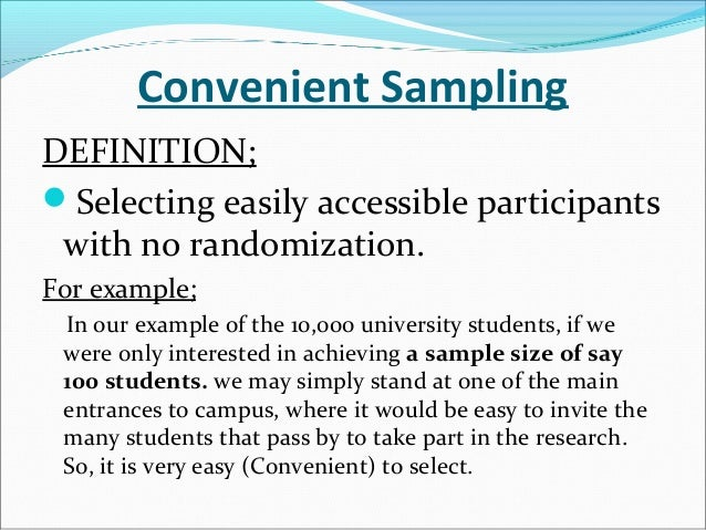 convenience sampling research