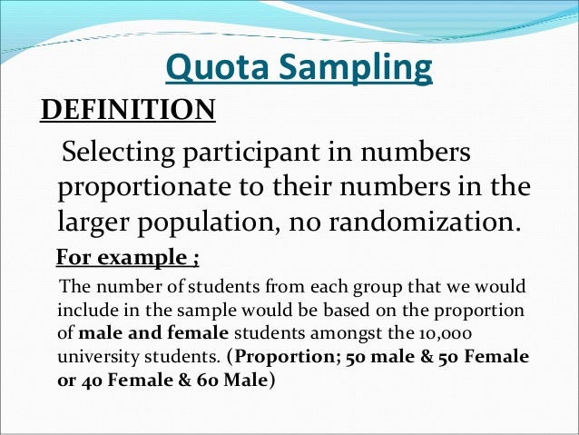 what is quota sampling in research Used quota sampling and erroneously predicted dewey to defeat truman.