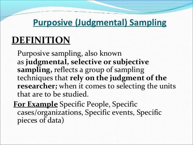 Laerd dissertation purposive sampling