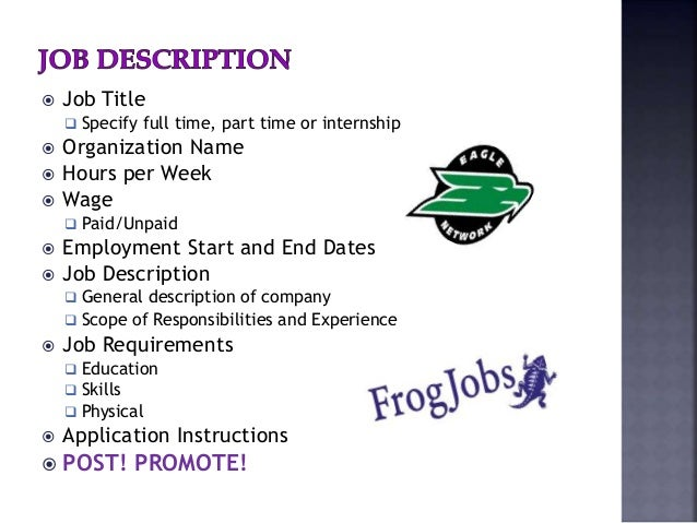 Internship Final Report General Intern Job Description. Web ...