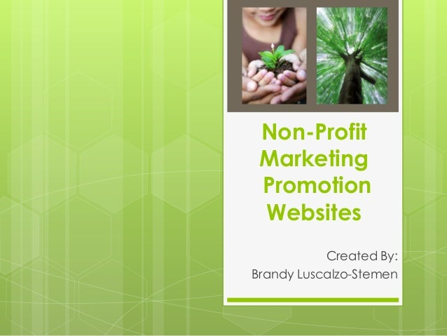 Non-Profit Marketing Promotion Websites           Created By:Brandy Luscalzo-Stemen