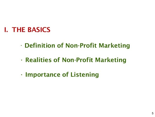 why is marketing important to nonprofit organizations
