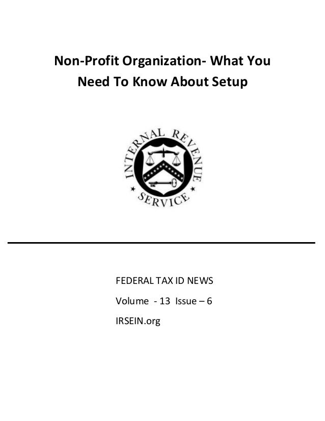 how to get a non profit tax id