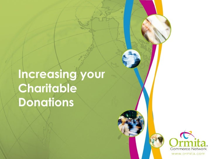 Increasing your Charitable Donations