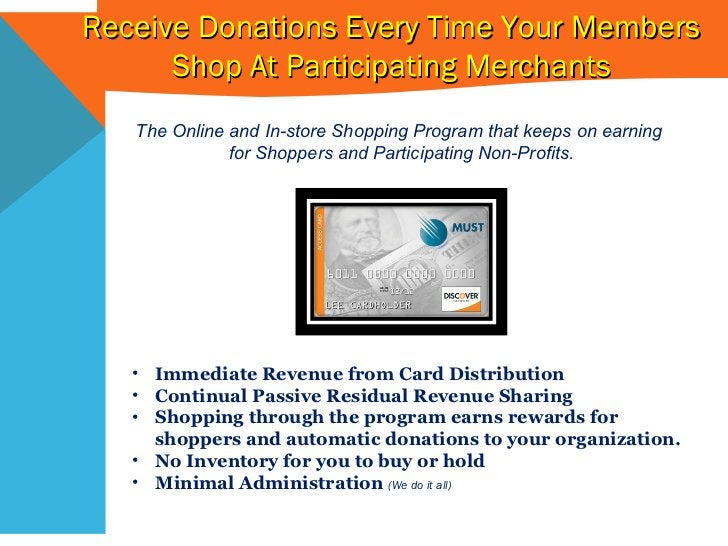 The Online and In-store Shopping Program that keeps on earning  for Shoppers and Participating Non-Profits. <ul><li>Immedi...