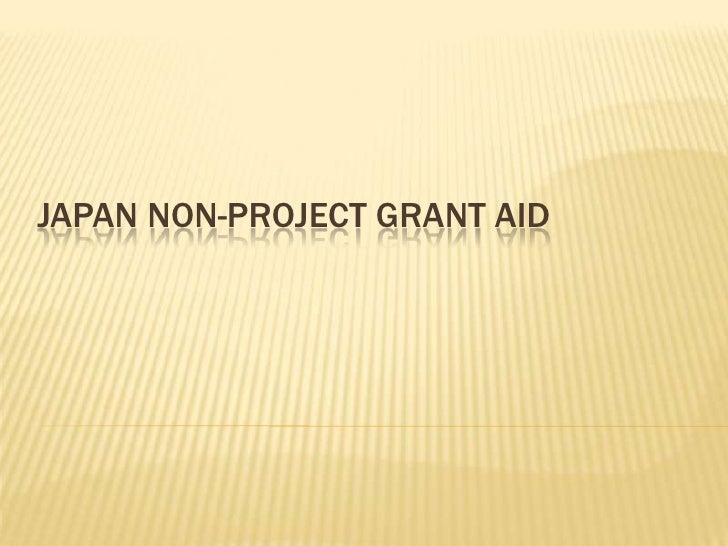 Japan non-project grant aid<br />