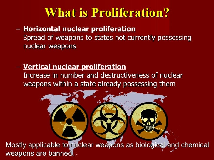 an essay on nuclear proliferation the spread of weapons of mass destruction Proliferation of nuclear weapons: opportunities for control and abolition  selling material or technology for missiles or weapons of mass destruction to north korea, and (2) receiving missiles,  in 1968, the treaty on the non-proliferation of nuclear weapons,.