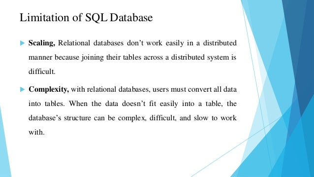 Non relational databases-no sql