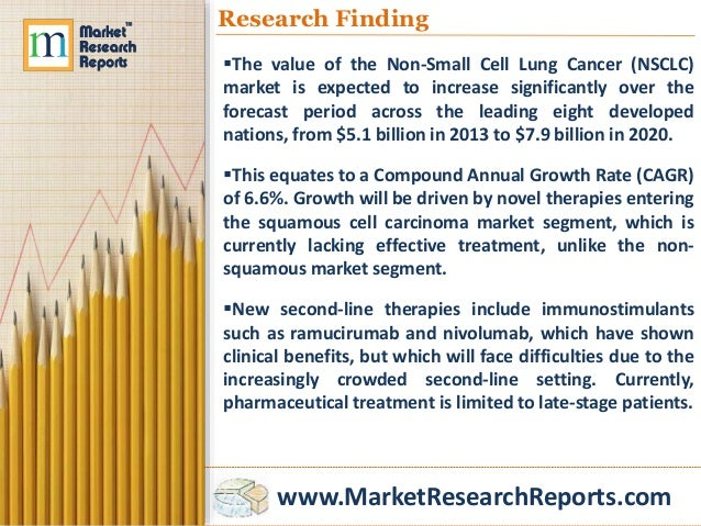 global non small cell lung cancer market The global non-small cell lung cancer market and competitive landscape - 2017 report has been added to research and markets' offering glo.