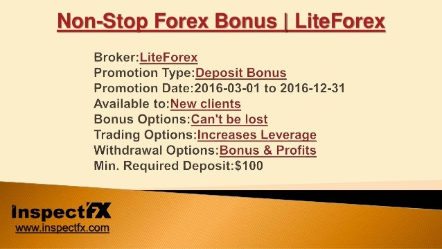 Liteforex welcome bonus