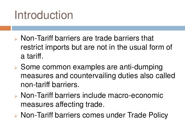 NON TARIFF BARRIERS EPUB