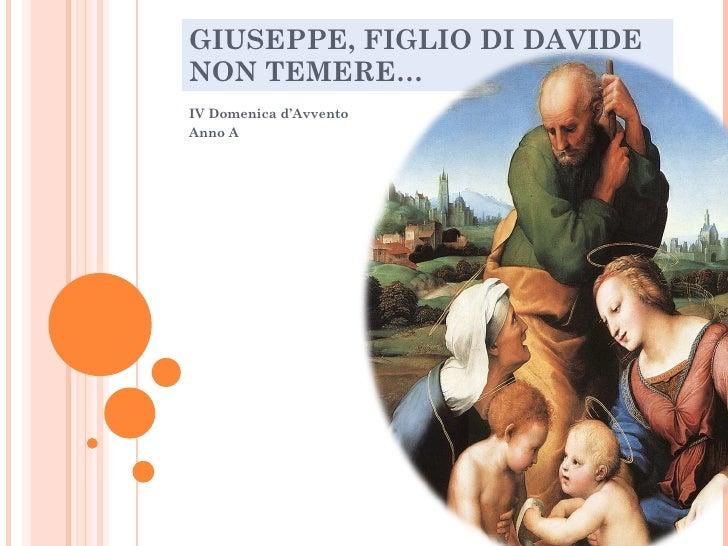 Non temere  Giuseppe