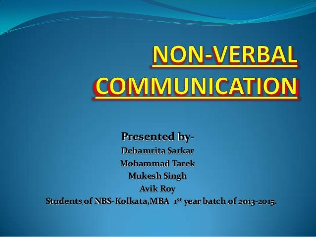 Non verbal communication essay