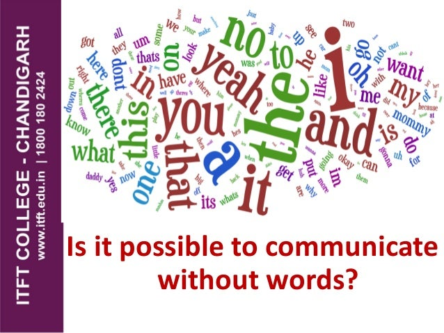 Is it possible to communicate without words?