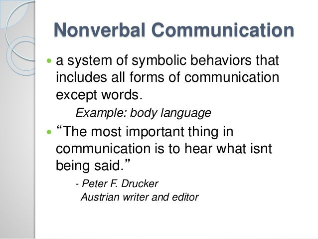 Non verbal communication in england