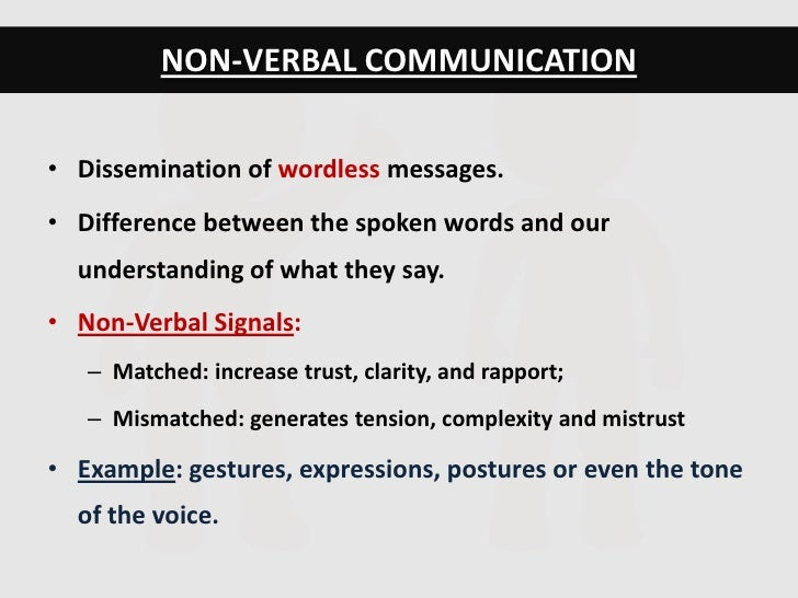 What is an example of nonverbal communication