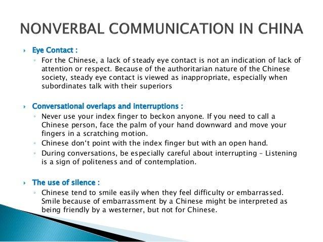 Chinese nonverbal communication