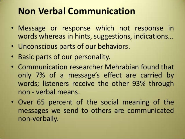 Non Verbal Communication It is essential when communicating in business to understand chronemics(attitudestoward time), or the way individuals interpret the use of time. non verbal communication