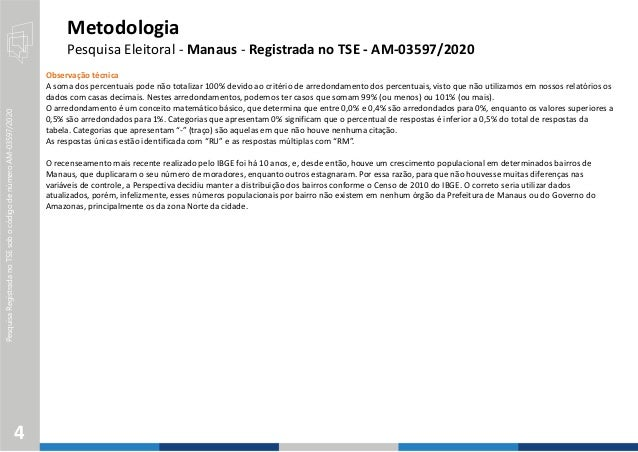 PesquisaRegistradanoTSEsobocódigodenúmeroAM-03597/2020 Observação técnica A soma dos percentuais pode não totalizar 100% d...