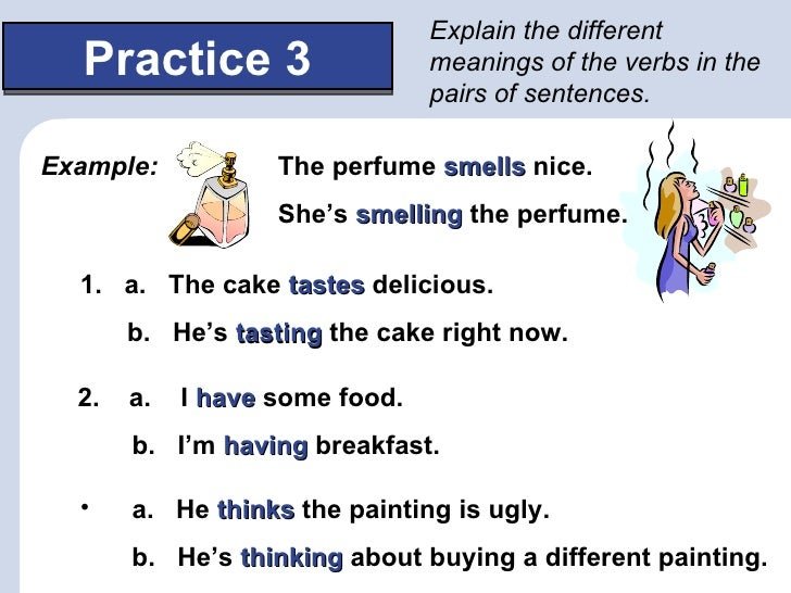 Worksheets Example Of Verbs In Sentence non action verbs 15