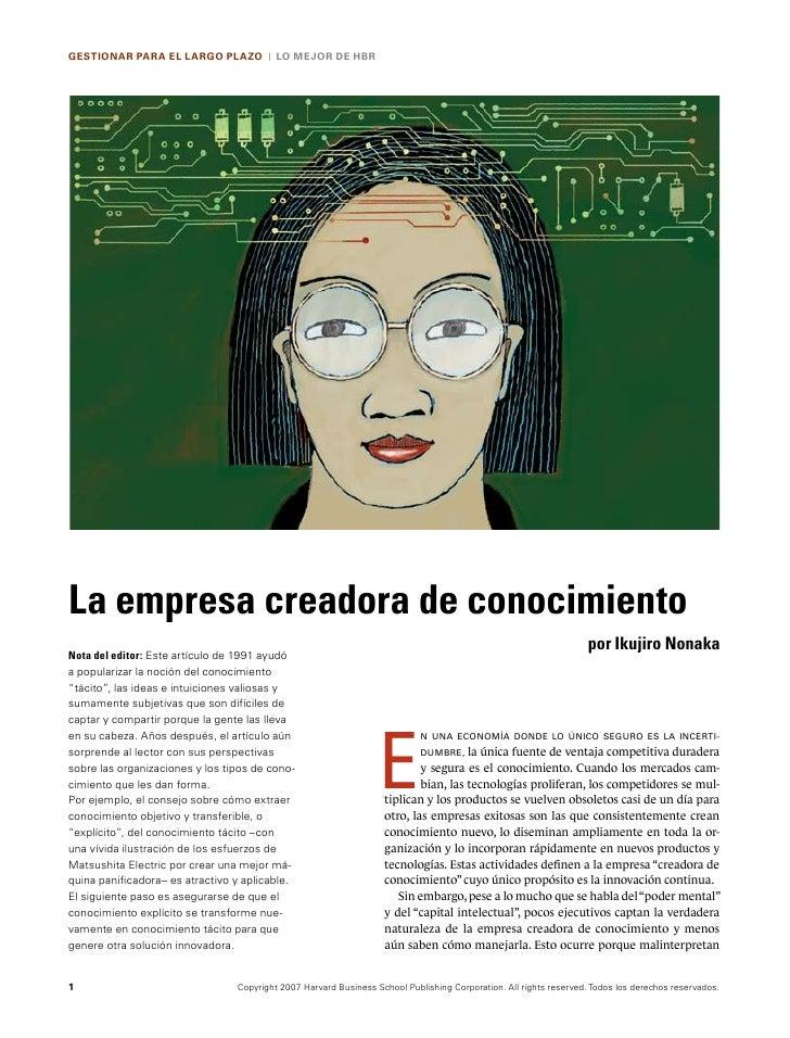 GESTIONAR PARA EL LARGO PLAZO           |   LO MEJOR DE HBRLa empresa creadora de conocimiento                            ...
