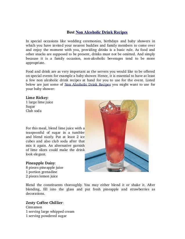 Best Non Alcoholic Drink Recipes