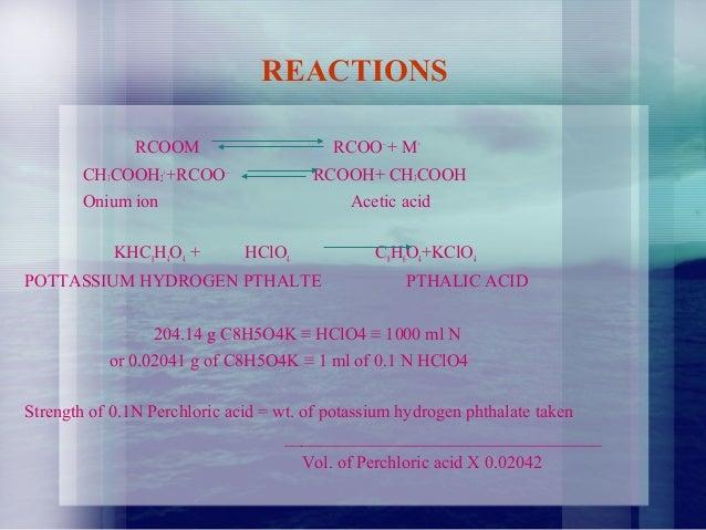 non aqueous titration