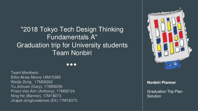 """2018 Tokyo Tech Design Thinking Fundamentals A"" Graduation trip for University students Team Nonbiri Team Members: Billie..."