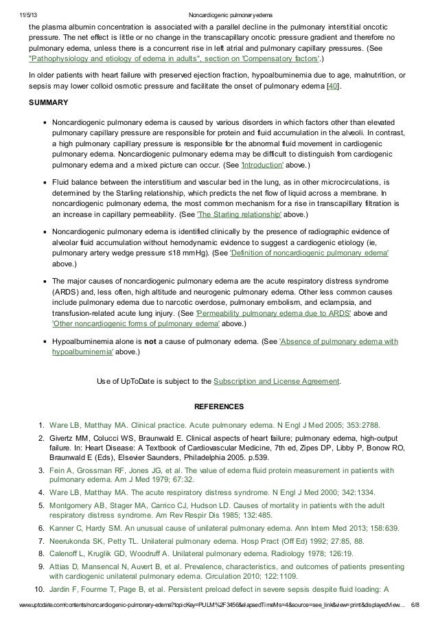11/5/13 Noncardiogenic pulmonaryedema www.uptodate.com/contents/noncardiogenic-pulmonary-edema?topicKey=PULM%2F3456&elapse...