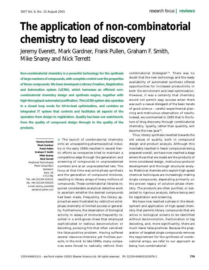 DDT Vol. 6, No. 15 August 2001                                                                        research focus      ...