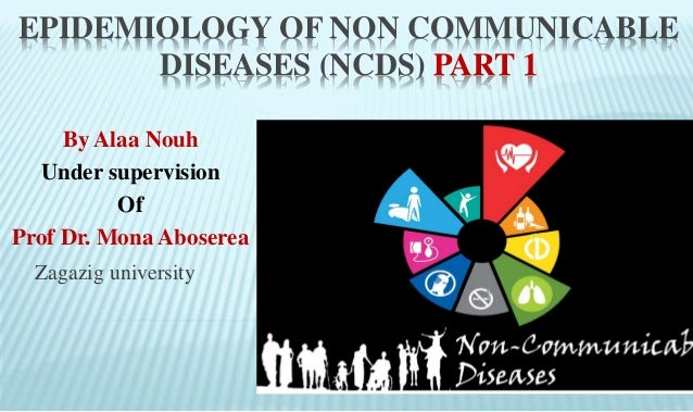 EPIDEMIOLOGY OF NON COMMUNICABLE DISEASES (NCDS) PART 1 Zagazig university By Alaa Nouh Under supervision Of Prof Dr. Mona...