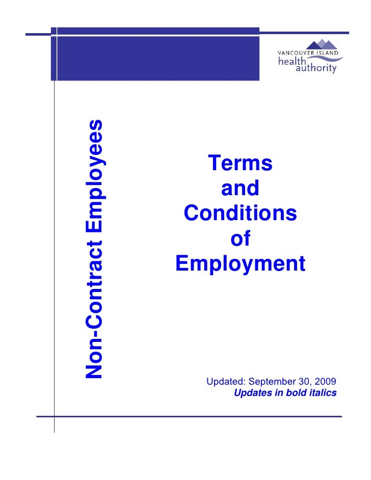 Non-Contract Employees                                                 Terms                              and            ...