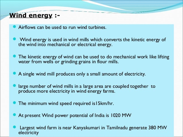 essay on development of wind energy in tamilnadu A house by the sea that uses wind energy tamil nadu is no stranger to wind energy more from times of india cities.