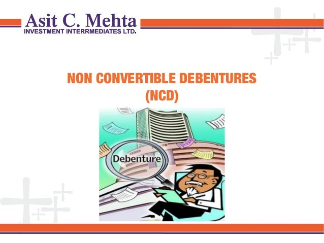 NON CONVERTIBLE DEBENTURES (NCD)