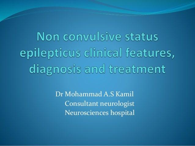 non convulsieve status epilepticus