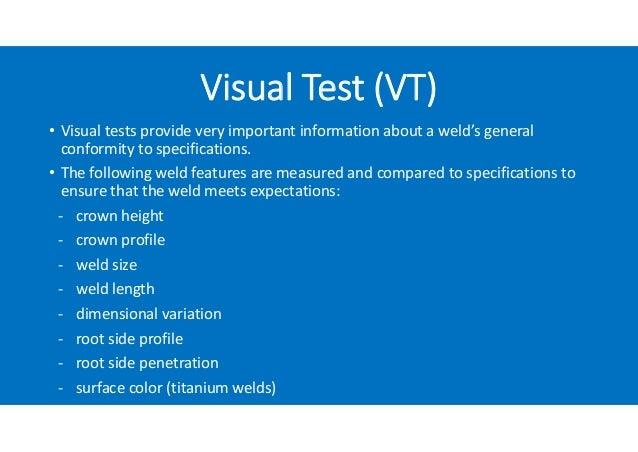 Weld Inspection - Non Destructive Test