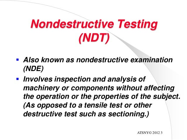 ndt technical definition Ndt & inspection course we currently offering the following non-destructive testing training programmes: non-destructive testing courses introduction to non-destructive testing.