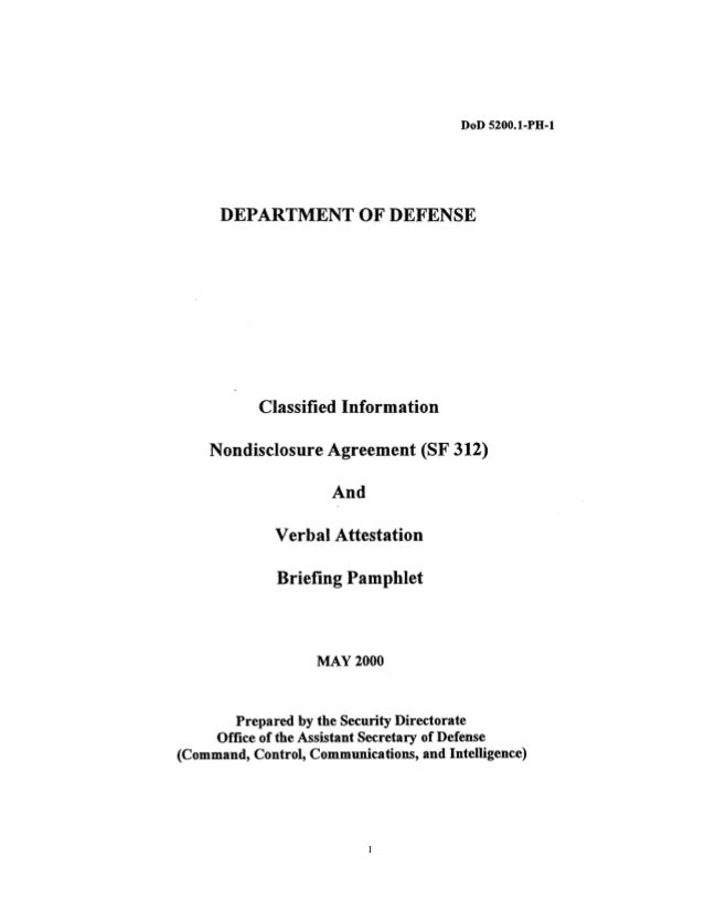 Us Department Of State Non Disclosure Agreement