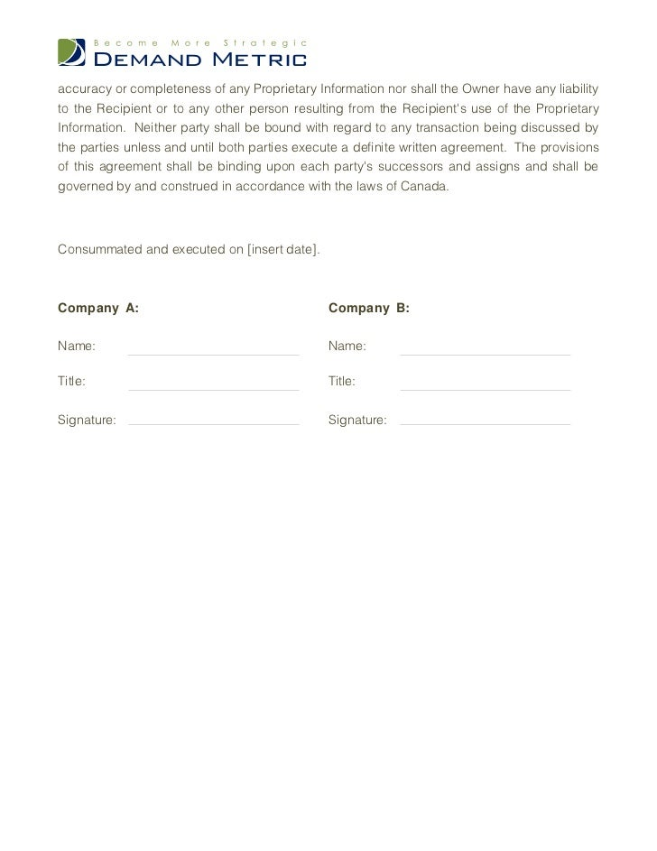 Non disclosure agreement template accmission Images