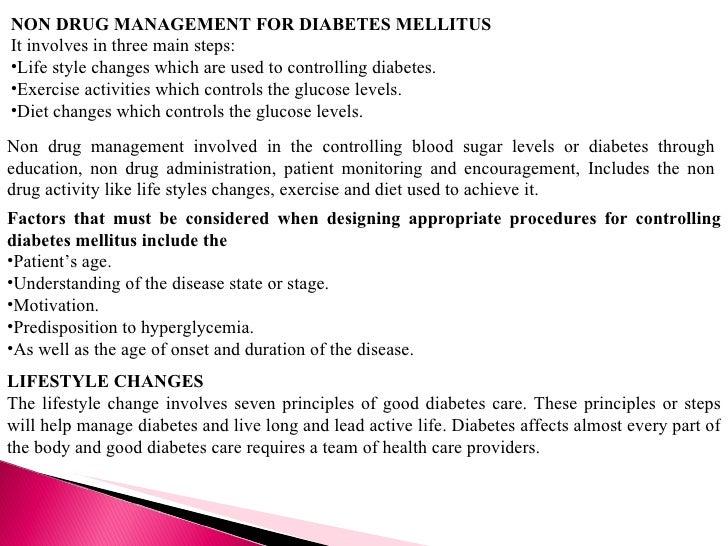 Non Drug Management Of Diabetes
