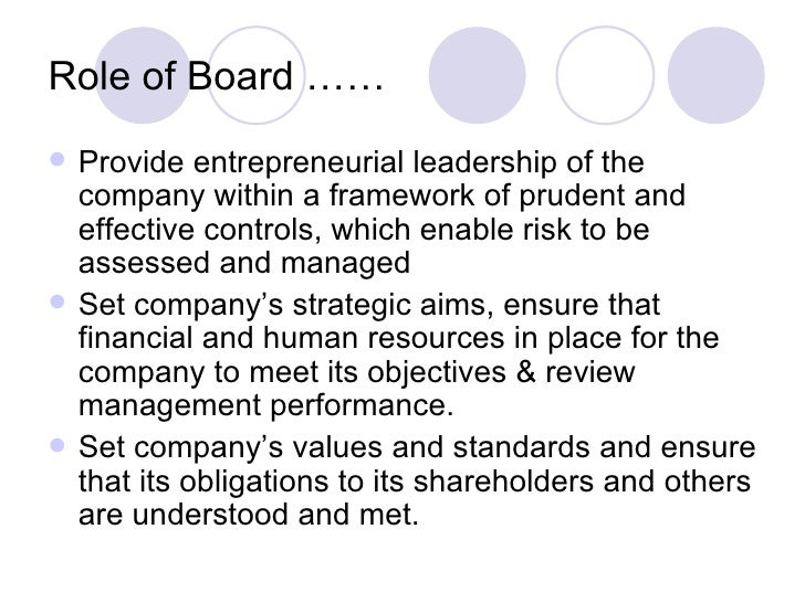 Review of the role and effectiveness of non-executive directors