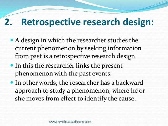Retrospective essay essay