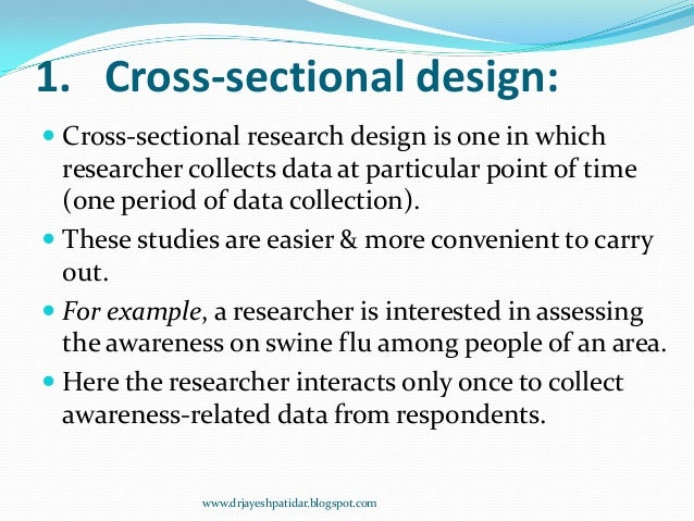 cross sectional study example